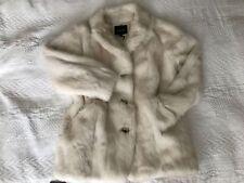 Isabel Marant Marfil/crudo piel de conejo abrigo/chaqueta tamaño 2 M Nuevo Auténtico