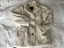 Isabel Marant Ivory / Ecru Rabbit Fur Coat / Jacket Brand New M Size 2 Authentic