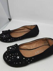 Report Black Starry Flats Size 11, Girls size 11 starry flats