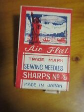 Vintage Needle packet with Blimp, statue of Liberty, ships, needles in packet