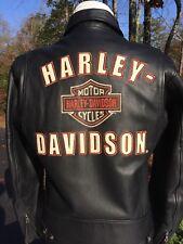 Rare Harley Davidson Men's Medium Black Leather Jacket 97110-07VM Racing
