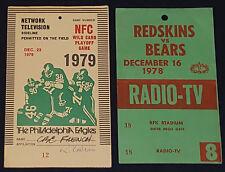 1978 + 1979 - NFL FOOTBALL - MEDIA / PRESS /RADIO /TELEVISION - PASS /TICKET (2)