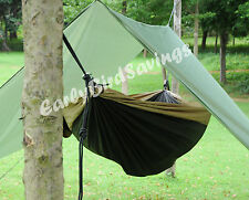 3m x 3m Tarpaulin Tent Camping/Backpacking Rain Tarp Stuff Sack Hook Ring Rope