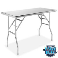 Stainless Steel Folding Commercial Kitchen Prep & Work Table - 48 x 24 in.