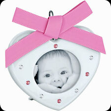 SWAROVSKI CRYSTAL BABY PICTURE FRAME LIGHT ROSE 5004626.NEW IN BOX