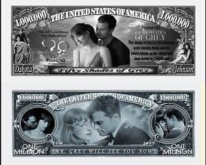 50 NUANCES DE GREY BILLET MILLION DOLLAR US Collection Film Romantique shades sm