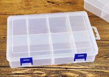 Cassetta Contenitore 8 Scomparti Plastica Per Viti Minuterie 13,5x7x3cm dfh