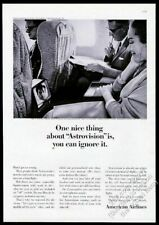 1964 American Airlines Astrovision in-flight screen photo vintage print ad