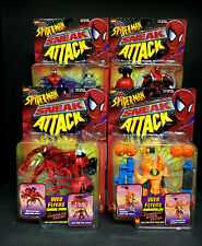 TOY BIZ SPIDER-MAN SNEAK ATTACK WEB FLYERS 4 FIGURE SET CARNAGE HOBGOBLIN D49