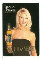 """Single Wide Playing Card, """"Black Velvet"""" Canadian Whisky"""