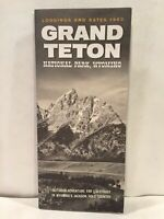 1963 Lodging and Rates GRAND TETON NATIONAL PARK WYOMING Travel Brochure and Map