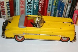 VINTAGE DISTLER  TIN WIND UP 1950 PACKARD CONVERTIBLE made in U.S. Zone Germany
