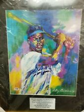 "LeRoy Neiman Signed ""Jackie Robinson"" CUSTOM FRAMED Litho Brooklyn Dodgers PSA"