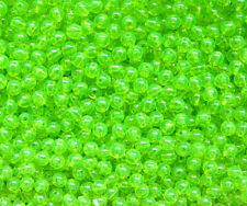 Lime Roe 6mm Round Beads 500pc USA for crafts fishing jewelry