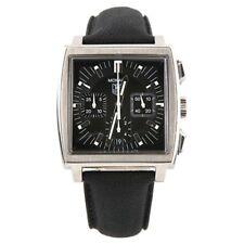 Uomo Tag Heuer Acciaio Inox Monaco CW2111 Automatico Orologio Cronografo