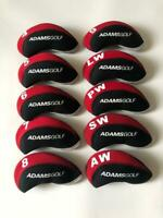 10PCS Golf Club Head Covers for Adams Iron Headcovers 4-LW Red&Black Protector