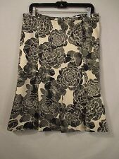 Banana Republic Multi-Color Floral Lined 100% Silk Career A-Line Skirt - Size 10