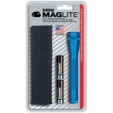 Maglite M2A11H Mini-MagLite Blue Flashlight Kit with Holster and 2 AA Batteries