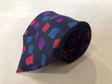 Paul Stuart Men's Navy  Geometric Silk Neck Tie $125