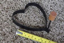 Metal Ring Heart Shaped Fried Egg Pancake Mold Ring w/ wood Handle country craft