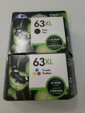 Genuine HP 63XL Black & Tri-color Ink Cartridges Combo Dates 2022