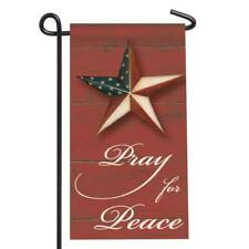 Pray For Peace Star Mini Flag