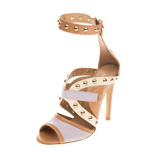 RRP €255 ANNARITA N Ankle Strap Sandals Size 37 UK 4 US 7 Studs Made in Italy