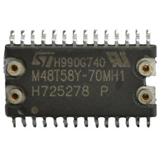 1pc ST Micro M48T58Y-70MH1 IC; 'Timekeeper' 64kb SRAM SMD NVRAM RTC SMT USA