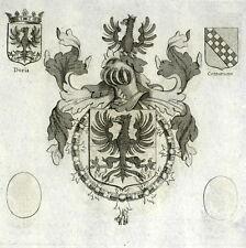 Blason Chevalier Toison d'or Jean André Doria Pedro Téllez-Girón Gravure XVIIe