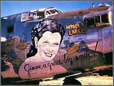 Photo: Nose Art: Mabel's Labels: B-24 Liberator, WW2