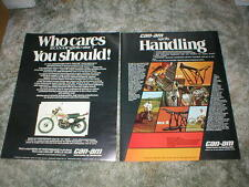 1975 Can-Am  Motorcycle AD Original ( lot of 2 ads ) t'nt  mx-2