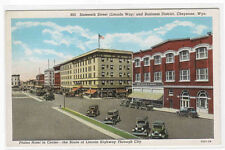Sixteenth Street Cars Cheyenne Wyoming postcard