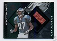 TODD PINKSTON 2000 LEAF LIMITED  RC FOOTBALL SWATCH