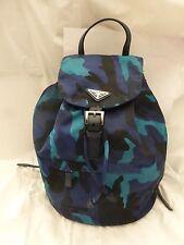 NWT Prada Vela Tessuto Camouflage Nylon Medium Backpack, Royal