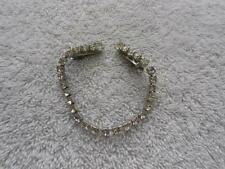 VINTAGE WHITE RHINESTONE SWEATER CLIP SILVER TONE PATENT NUMBER
