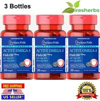 EXTRA STRENGTH ACTIVE OMEGA-3 Fatty Acids Fish Oil 900mg EPA/DHA 1410mg 90 Soft