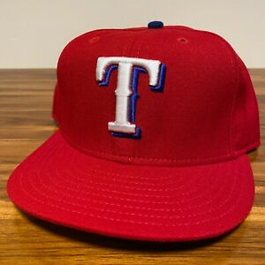 Texas Rangers Hat Baseball Cap Fitted 7 3/8 New Era Vintage Red MLB