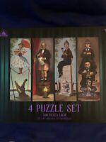 Disney Parks Haunted Mansion 4 Puzzle Set Stretching Room Portraits NIB