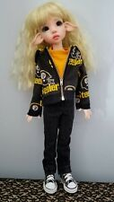 Steelers Hoodie Clothing Set Msd Bjd Kaye Wiggs Doll 18inches Or Similar Size