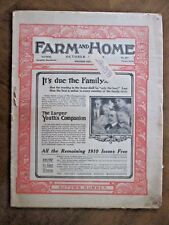 FARM AND HOME mag 1910 issue APIARY VETERINARY CORN