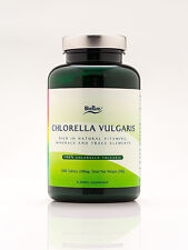 BioPure CHLORELLA VULGARIS 200 mg * 1000 tablets * EXP 7/19 * New!