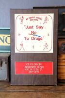 """Vintage """"Just Say No To Drugs"""" Advertising Clock D.A.R.E Lawnmower Repair shop"""