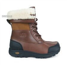 UGG Butte II CWR Worchester Waterproof Leather Fur Boots Big Kids Size 2 *NIB*