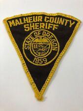 Malheur County Sheriff Oregon Vintage Patch Law Enforcement Police Uniform
