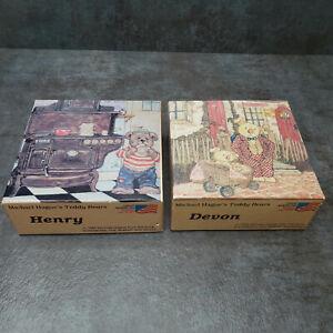 Vintage 1984 Teddy Bears Mini Puzzle 7x7 100pcs (Devon & Henry) by Michael Hague