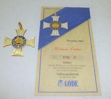Orden Abzeichen Preußen 1861 - Kronen-Orden Göde badge