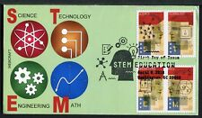"""5276-79 * """"STEM"""" EDUCATION * 2018 ISSUE * ALL 4 STAMPS ON 1 FDC * VAR. 2 >"""