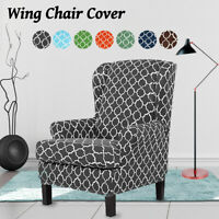 Stretch Fabric Armchair Wingback Sofa Chair Cover Slipcover Cover Wing Protector