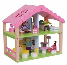 Lelin Wooden Pink Doll House Childrens Girls Summer Home Cottage