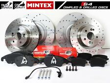 FOR AUDI S4 B8 S5 V6 V8 FRONT REAR PERFORMANCE BRAKE DISCS MINTEX BRAKE PADS